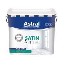 Astral - Peinture bicouche acrylique - satin - blanc - 5 L