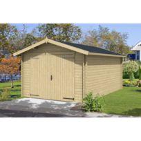 - Garage en bois Mauritius 16.40m²
