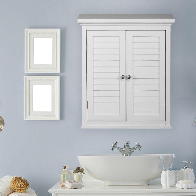 Placard armoire mural blanc salles de bain Ethan Teamson Home ELG-583