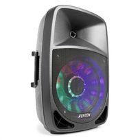 "FENTON - FT1200A Enceinte active 250W 12"" MP3 Bluetooth USB SD AUX LED LCD"