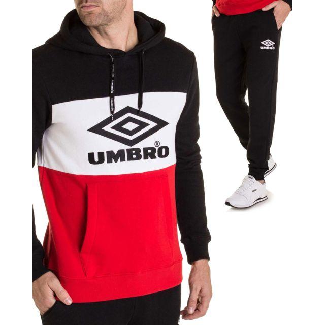 ce10a27bd6714 Umbro - Ensemble de jogging de marque noir blanc et rouge pour homme ...
