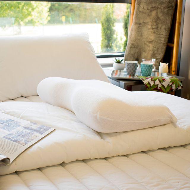 bleu calin oreiller a memoire de forme special cervicales 35x50x11cm pas cher achat. Black Bedroom Furniture Sets. Home Design Ideas