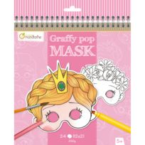 Avenue Mandarine - Carnet Graffy Pop Mask : Fille