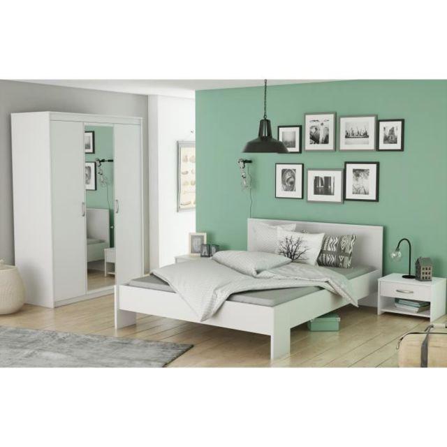 Armoire De Chambre Marty Armoire de chambre contemporain blanc perle - L  131 cm