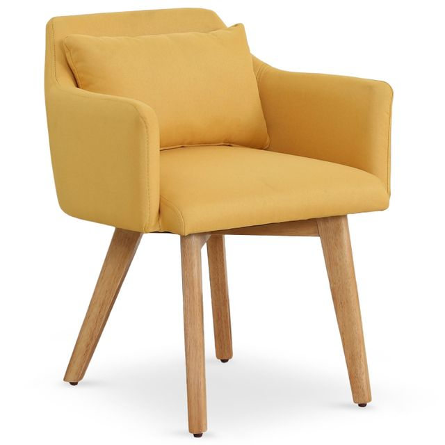 4bc565b7c5a45b MENZZO - Chaise   Fauteuil scandinave Gybson Tissu Jaune - pas cher ...