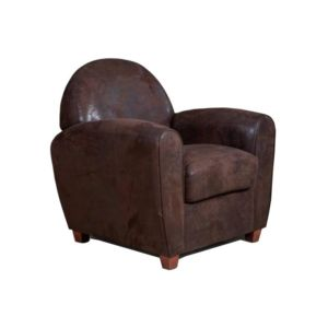 inside 75 fauteuil club bufallo en microfibre vintage marron pas cher achat vente. Black Bedroom Furniture Sets. Home Design Ideas
