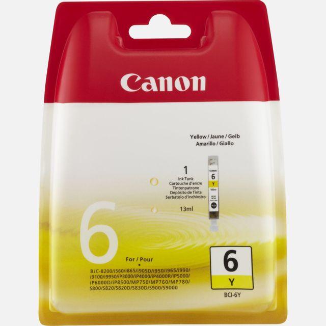 CANON BCI-6 Y - Cartouche d'encre Jaune