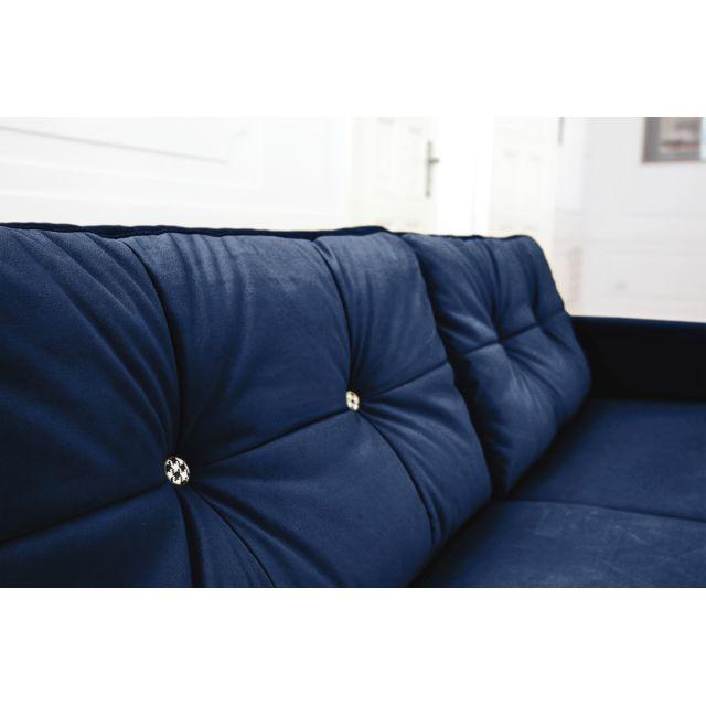SCANDI fixe velour place Canapé limitée Marine Edition 3 Bleu NwOmnv80