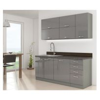 cuisine complete 180 cm achat cuisine complete 180 cm pas cher soldes rueducommerce. Black Bedroom Furniture Sets. Home Design Ideas