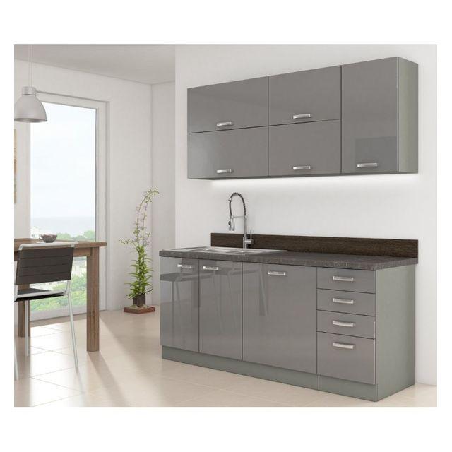 g n rique cuisine compl te grey 180 cm pas cher achat vente cuisine compl te rueducommerce. Black Bedroom Furniture Sets. Home Design Ideas