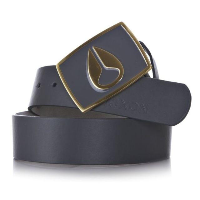 Nixon - Ceinture Enamel Icon Gun Metal Gold Gris - S - pas cher Achat    Vente Ceinture homme - RueDuCommerce 79d57cc0187