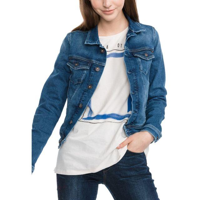 Core Femme Blouson Jeans Vente Achat Jean Cher Pas Veste Pepe qRztx1wH1