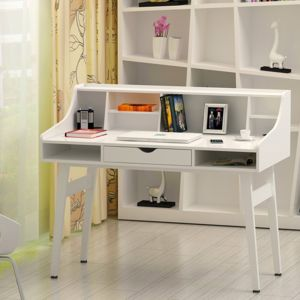 rocambolesk superbe bureau informatique coiffeuse table de maquillage en panneaux de fibres. Black Bedroom Furniture Sets. Home Design Ideas