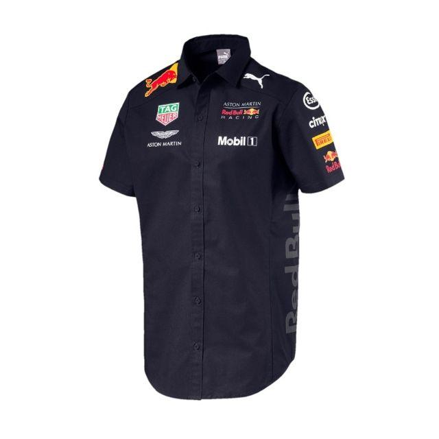 Red Bull - Chemise Team 2018 bleu pour homme - pas cher Achat   Vente Chemise  homme - RueDuCommerce 0683ce11fe5