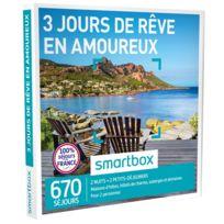 Smartbox - 3 jours des rêve en amoureux - À choisir parmi 670 séjours dans toute la France : maisons dhôtes, hôtels de charme, auberges et domaines - Coffret Cadeau