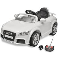 Rocambolesk - Superbe Voiture électrique pour enfant Audi Tt Rs blanche avec télécommande neuf
