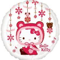 Amscan International ltd - Noel - 1 X Ballon En Alu - Hiver - Hello Kitty - 45CM