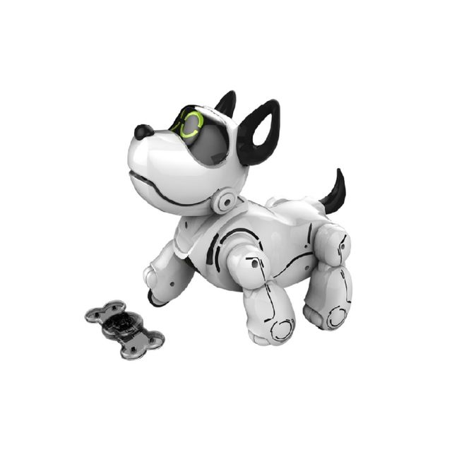 silverlit - pupbo le chien robot blanc interactif - multifonctions   vente