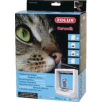 Zolux - Chatiere 4 Positions Magnetique Blanche Pour Chat