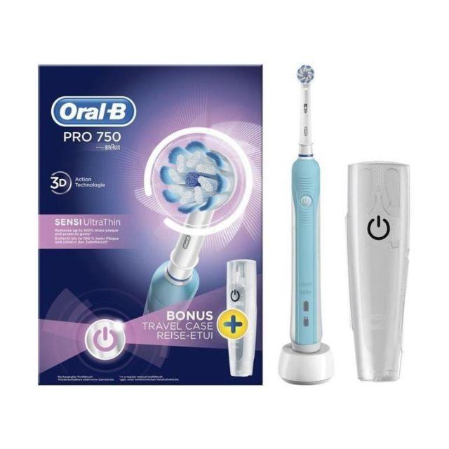 oral b pro 750 sensi ultrathin brosse a dents lectrique par braun pas cher achat vente. Black Bedroom Furniture Sets. Home Design Ideas