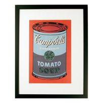 G&C Interiors - Cadre décoratif Campbells Tomato Soup en bois Mdf et verre 30x40cm Andy Warhol