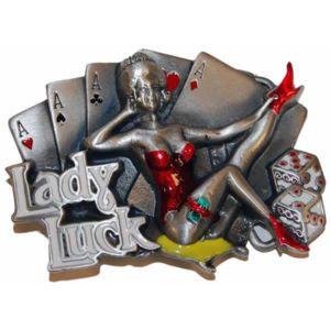 Poker Production - Boucle de ceinturon Lady Luck