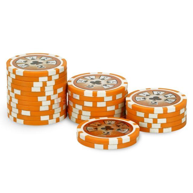 Pokeo rouleau 25 jetons laser deluxe 2 orange