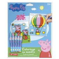 Lansay - Kit créatif Peppa Pig : Coloriage au numéro