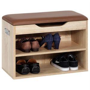 Idimex meuble chaussures zapato banc avec assise et 2 tag res rangement pour 6 paires - Meuble chaussure avec assise ...