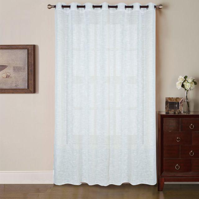 Best Interior - Voilage grande largeur uni tissé - blanc ...