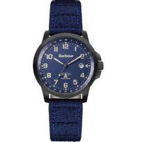 Barbour - Montre Homme modèle Swale Noire et Tissu Bleu - Bb020BKNV - En Soldes
