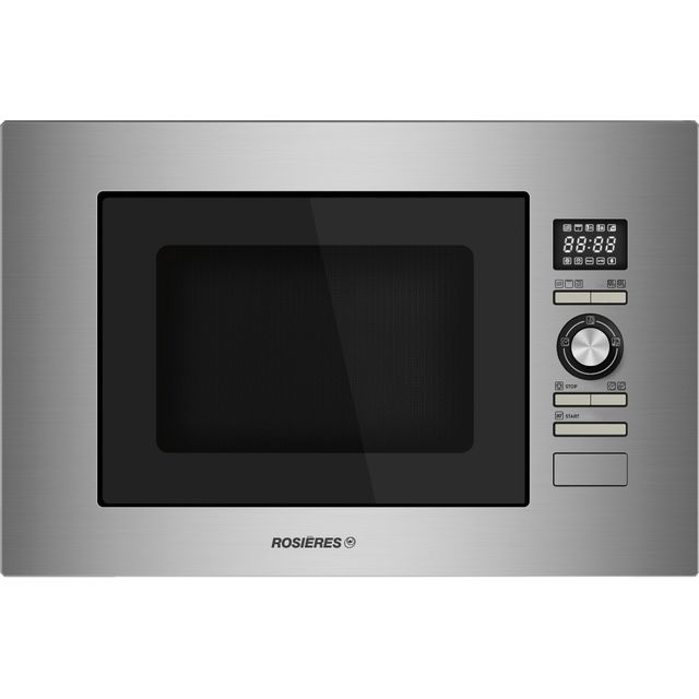 ROSIERES micro-ondes + gril encastrable 28l 900w inox - rmg281in