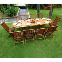 wood en stock salon de jardin en teck huil pour 10 personnes table 180 - Salon De Jardin Teck