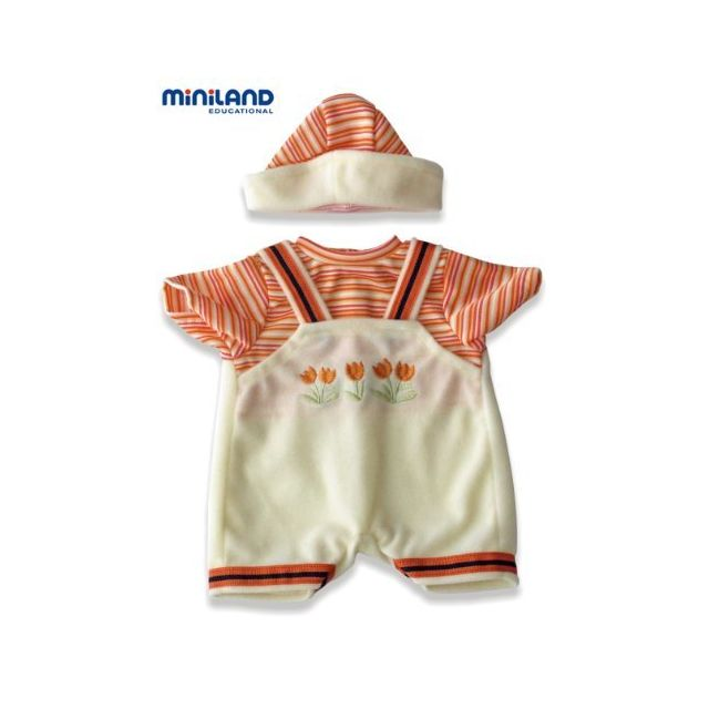Miniland Jumper and Hat set with Tulip Stitching for 85 Baby Dolls