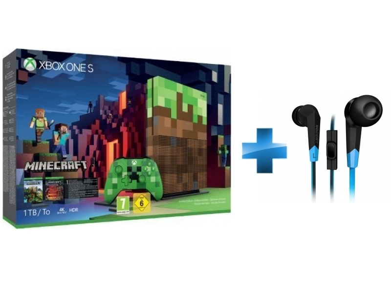 Pack Xbox One S 1To Minecraft Edition Limitée + Syva