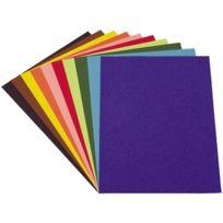 - papier dessin couleur assorti 21x29,7 120g - paquet de 100