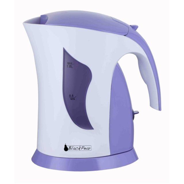 Blackpear Bouilloire Electrique Sans fil 1L 1100W Filtre Calcaire Violet