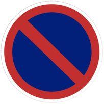 - panneau signalétique en pvc rond adhésif - stationnement interdit