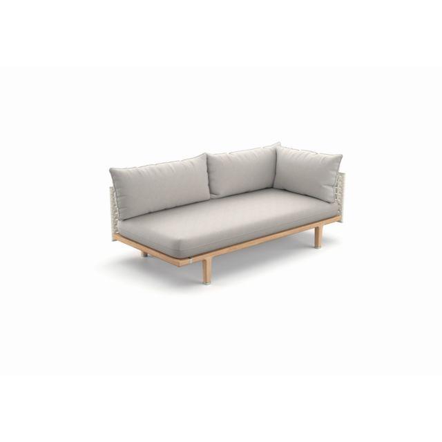Dedon Sealine Modul gauche - silver beige - Lipari - Cool Taupe - Coussins d'extérieur standard - sans Housse