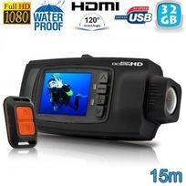 Yonis - Caméra plongée caméra sport Full Hd 1080P étanche 15m Télécommande 32 Go