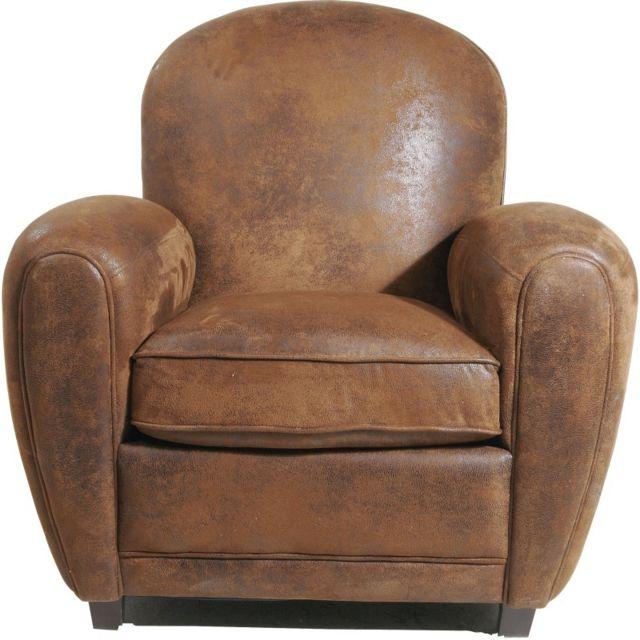 Vente Fauteuil Club karedesign - fauteuil club vintage round kare design marron - pas