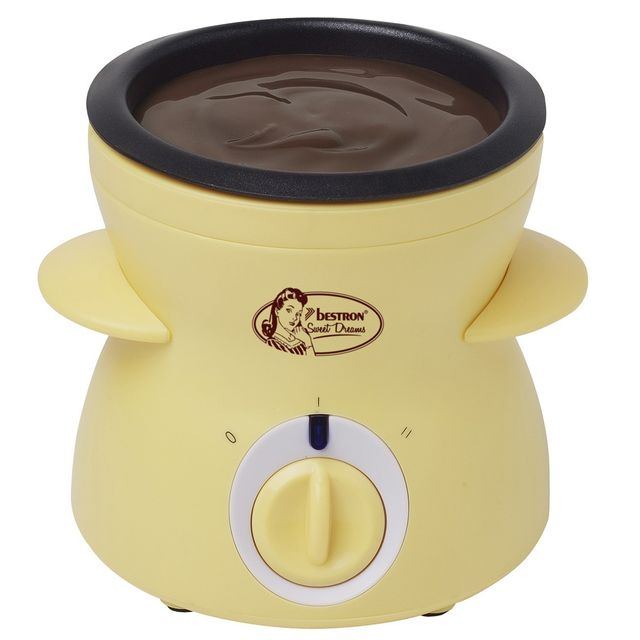 BESTRON Fondue à chocolat - en jaune - 25W
