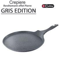 Cuisy - Crepiere finition pierre Gris 28 cm