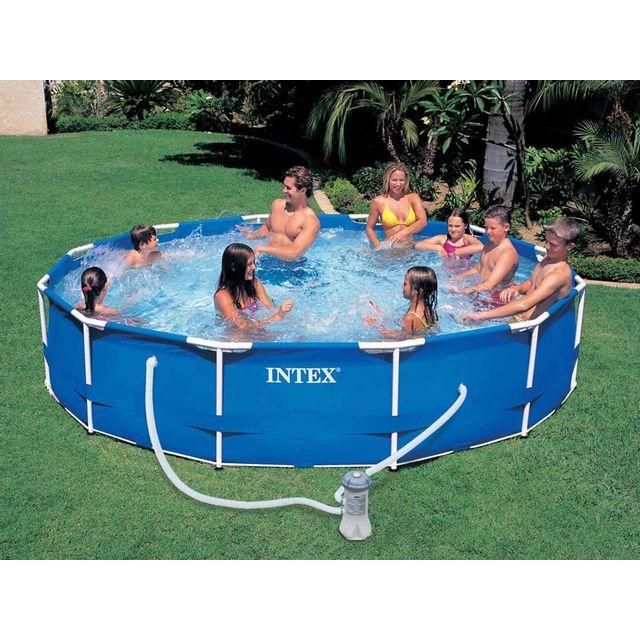 Intex piscine tubulaire metal frame ronde 3 66 x 0 76 m pas cher achat vente piscine - Piscine tubulaire intex pas cher ...