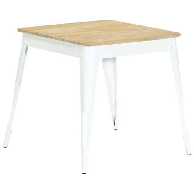 Inedit Tables edition Apia Table de salle à manger 75x75x76 cm Bois de manguier massif