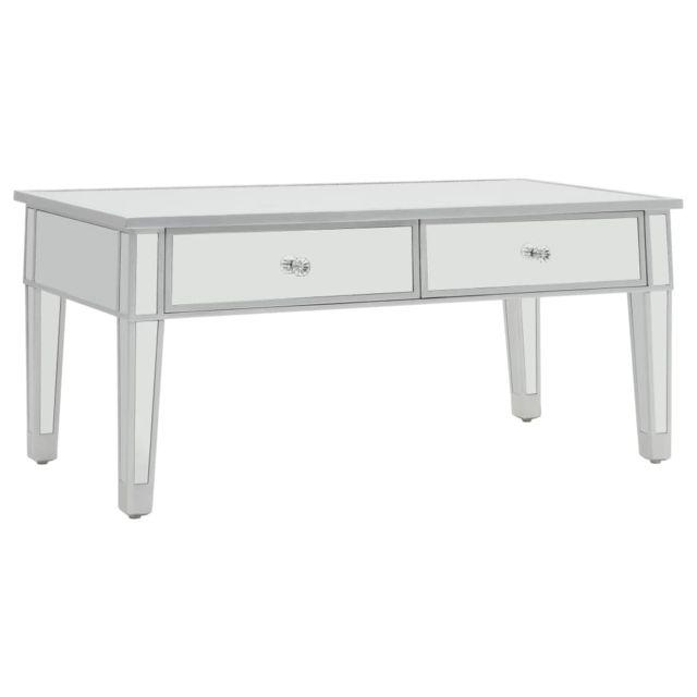 Vidaxl Table Basse Miroir Mdf Verre Table Salon Table Canapé Table d'Appoint