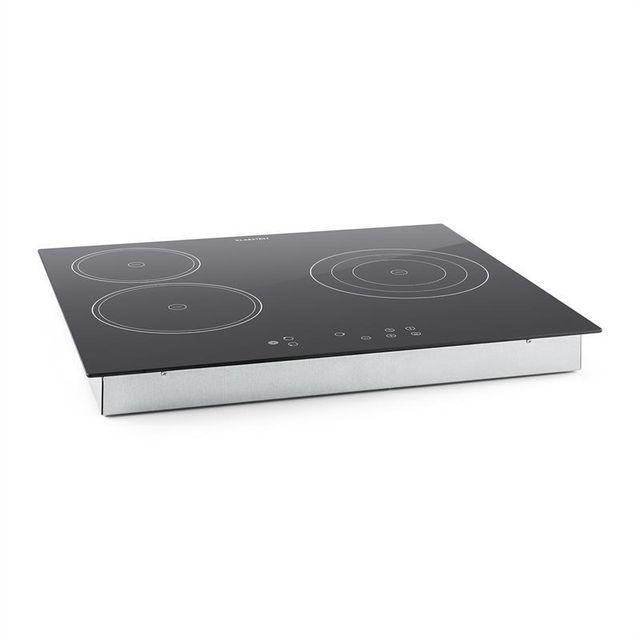 KLARSTEIN Virtuosa Plaque de cuisson encastrable vitrocéramique & verre 3 zones