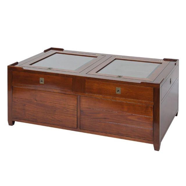 Tousmesmeubles Table basse en bois - Magellan