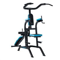 CAPITAL SPORTS - Meritower Power Tower Tour de musculation acier - noir & bleu