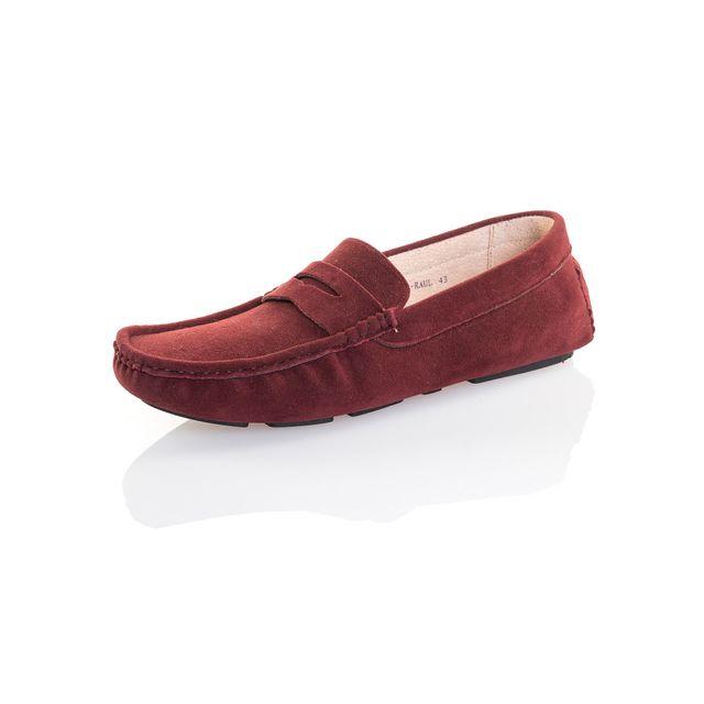 Reservoir Shoes - Mocassin bordeaux effet daim homme Rouge - 40 ... 53a1f5d9b817